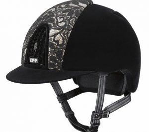 KEP Helmet Cromo Full Velvet with Black Lace