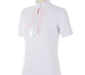 animo bilo ladies competition shirt white & navy